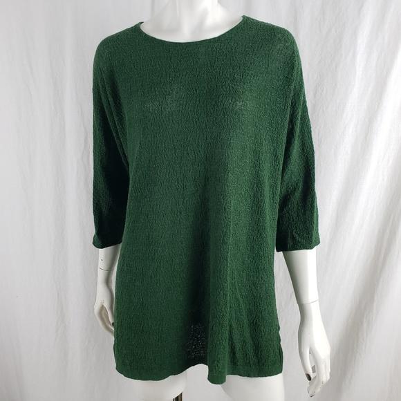 616468ec531 Eileen Fisher Tops | Tunic Organic Linen Crepe Stretch | Poshmark